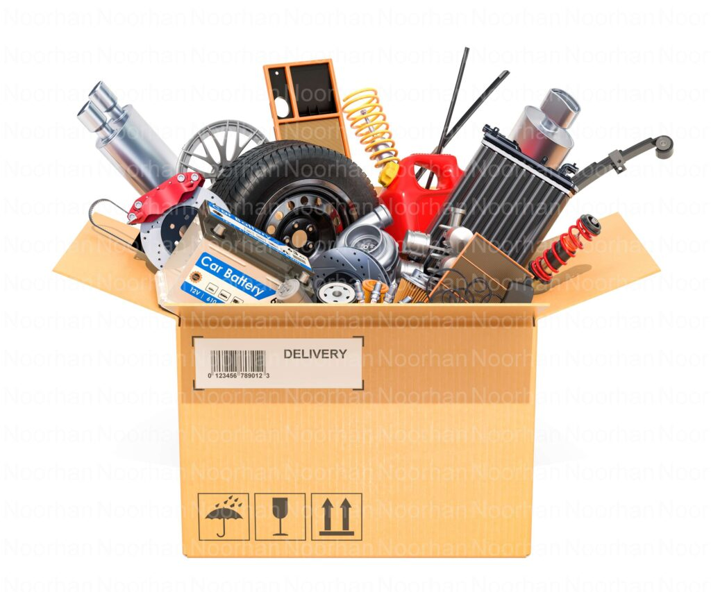 Aftermarket Spare Parts in a box