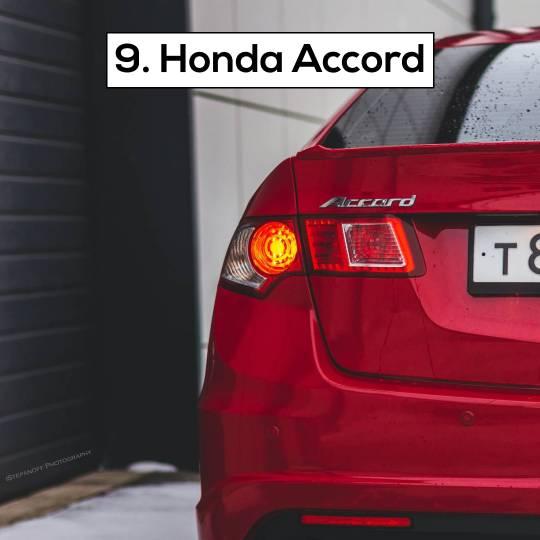Honda Accord - 10 Most popular cars in Dubai