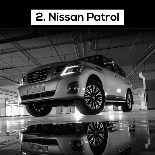 Nissan Patrol - 10 Most popular cars in Dubai