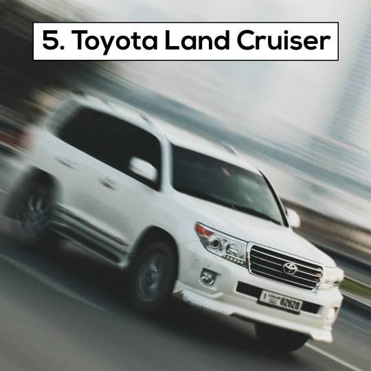 Toyota Land Cruiser - 10 Most Popular Cars in Dubai