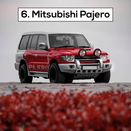 Mitsubishi Pajero - 10 Most popular cars in Dubai