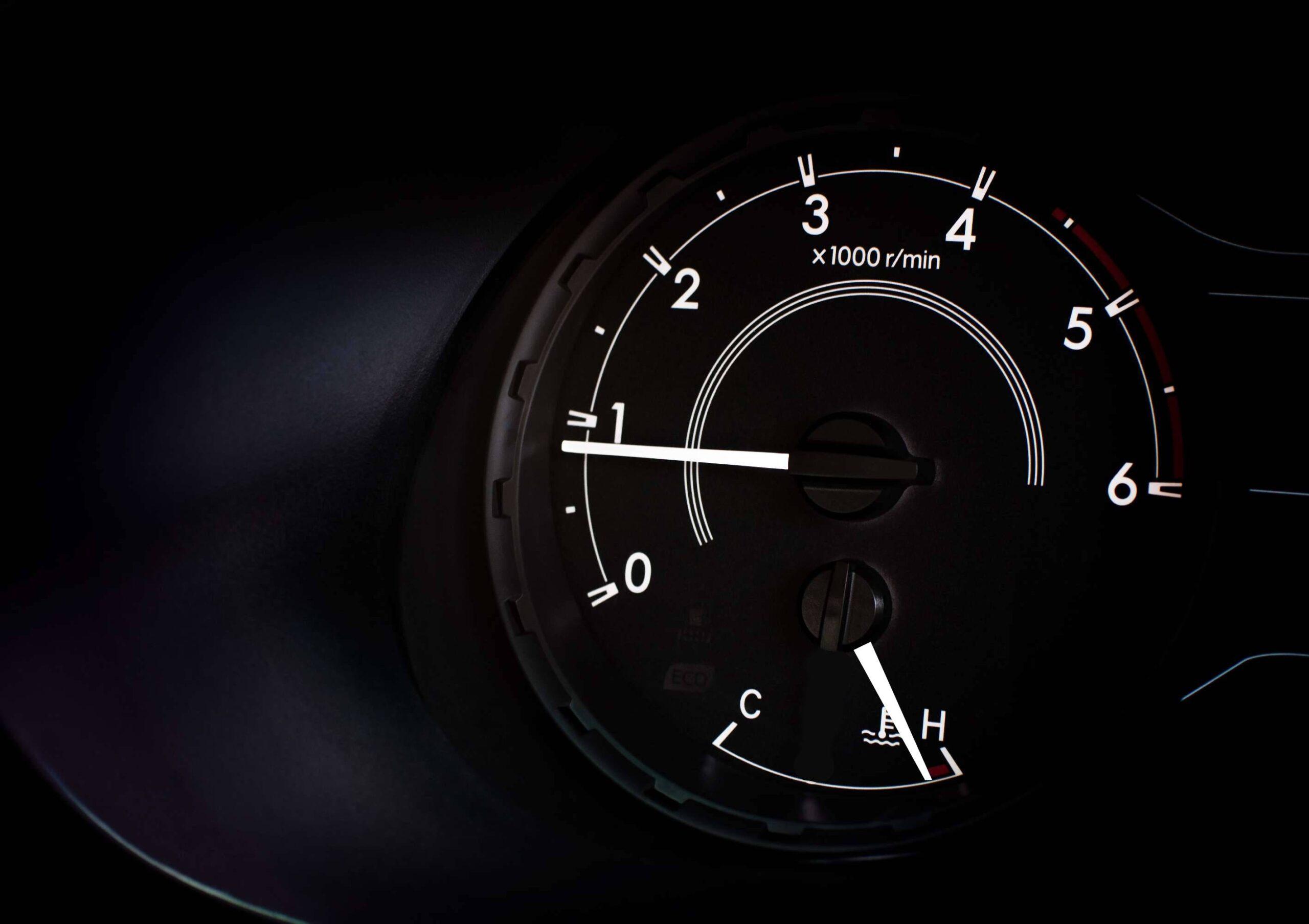 car coolant temperature indicator