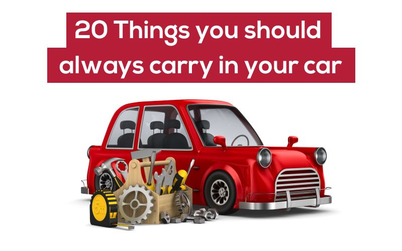 20 things you should always carry in your car