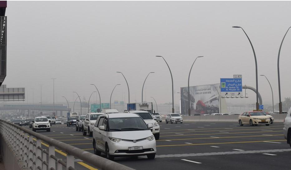 Dubai cars on road