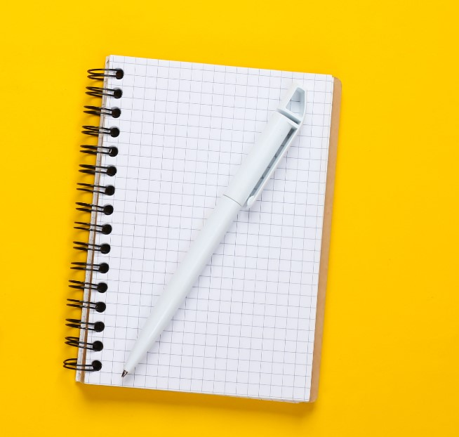 diary and pen to be used inside car