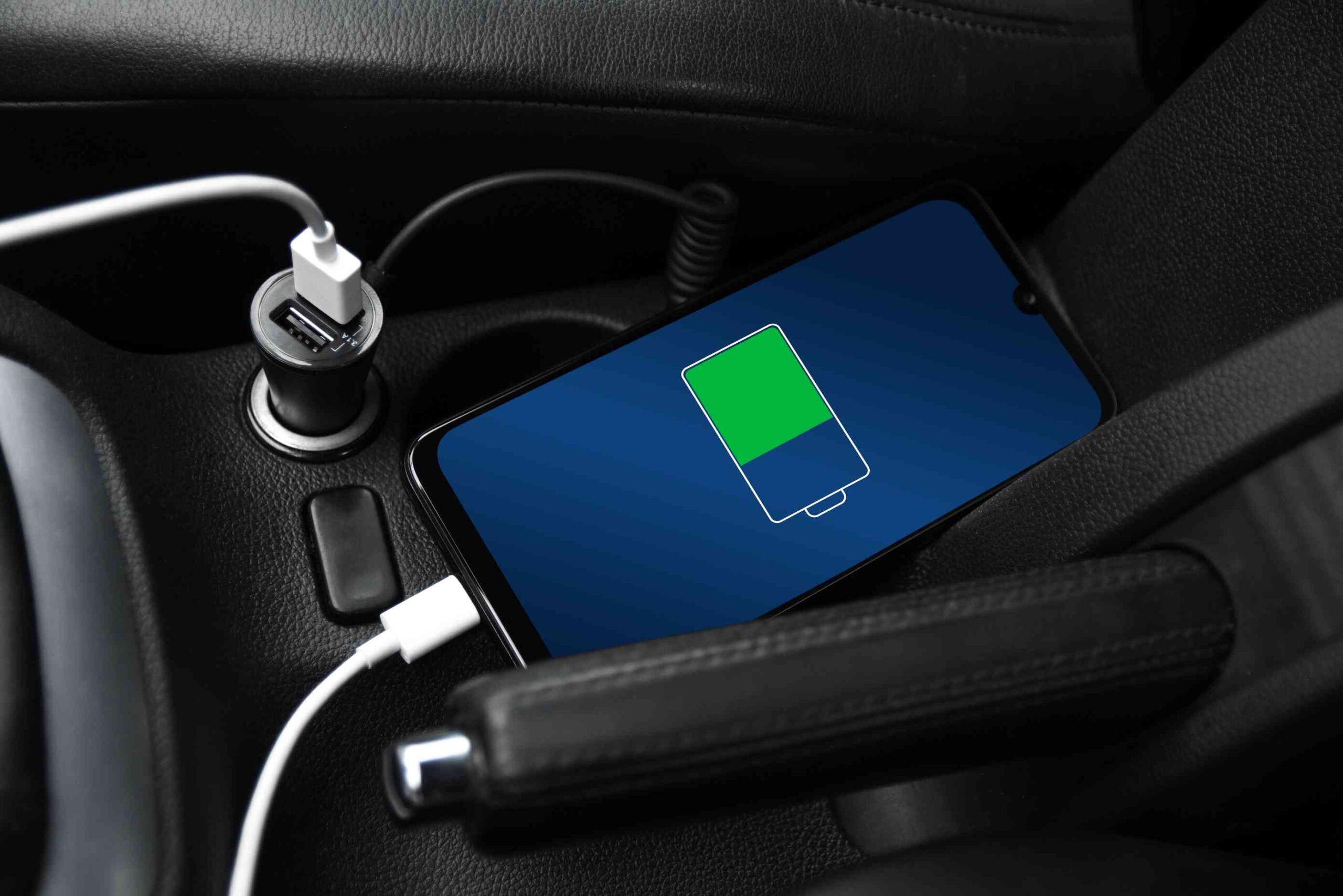 Phone charger and cable for car