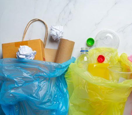 plastic bags in car