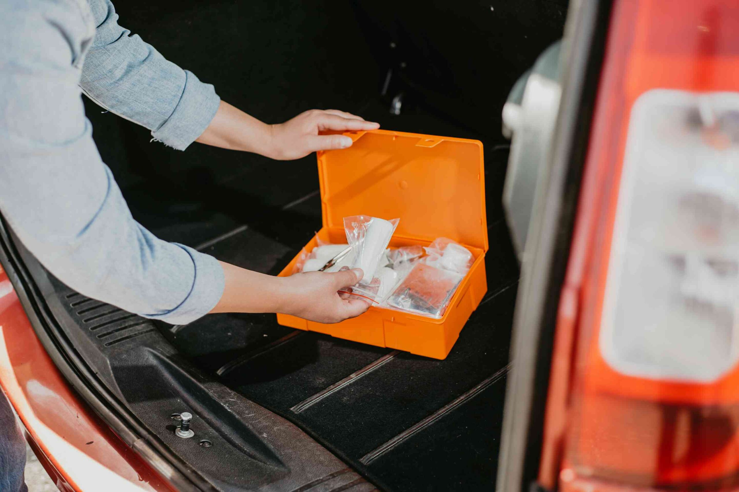 Medical First Aid Kit in Car